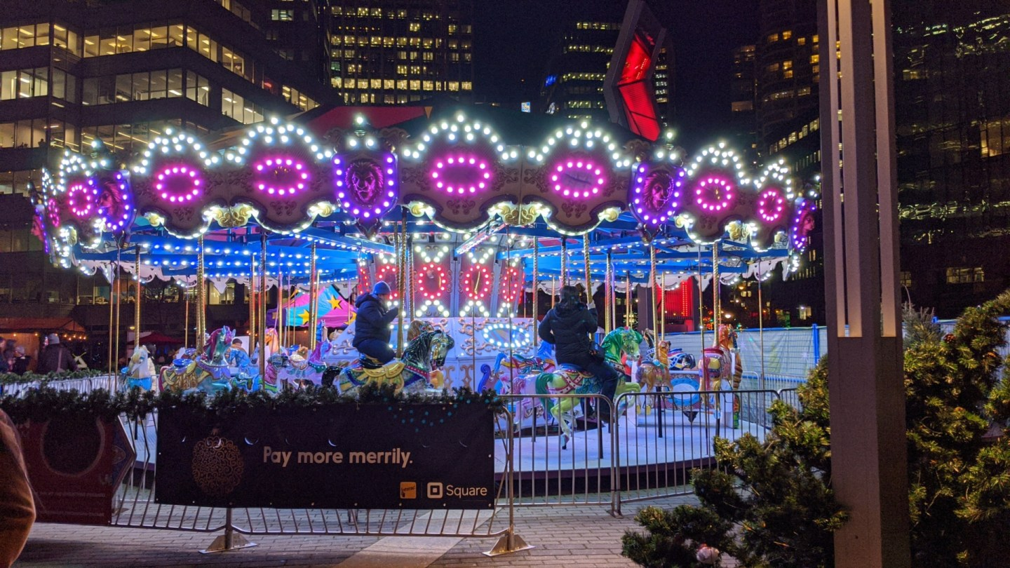 Vancouver Christmas Merry Go Round