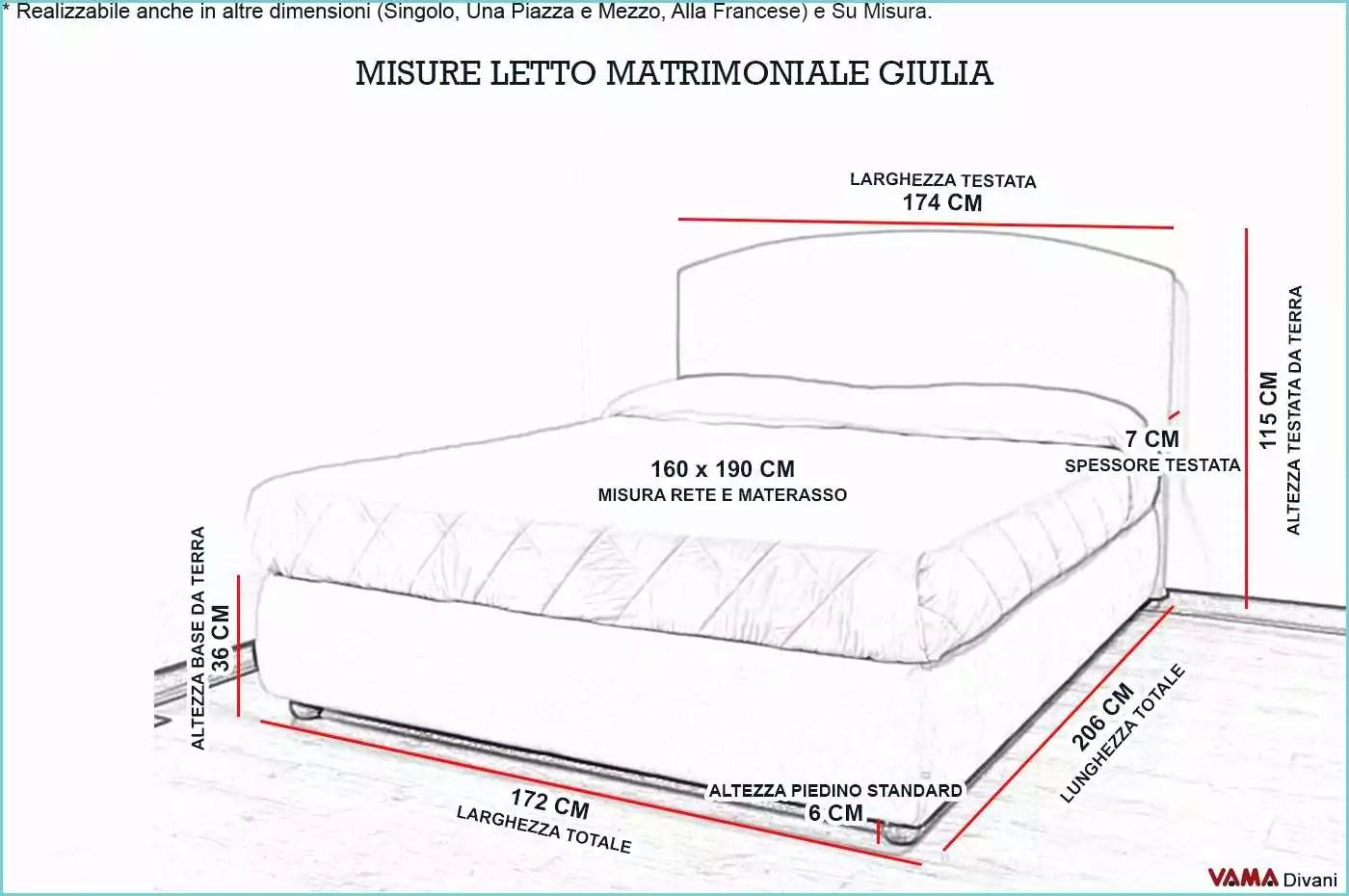 Materassi Matrimoniali Dimensioni Standard Le misure