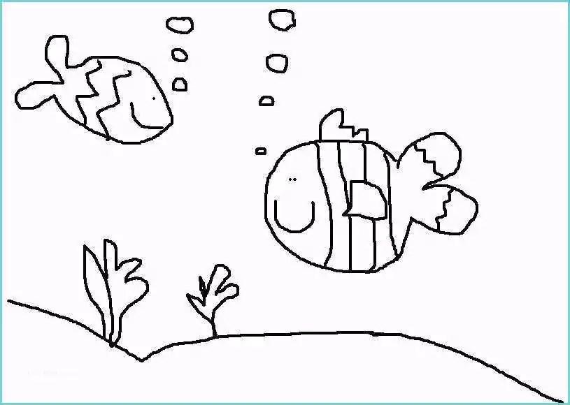 Paesaggio sottomarino Disegno Raccolta Del Pesce Dal Mar