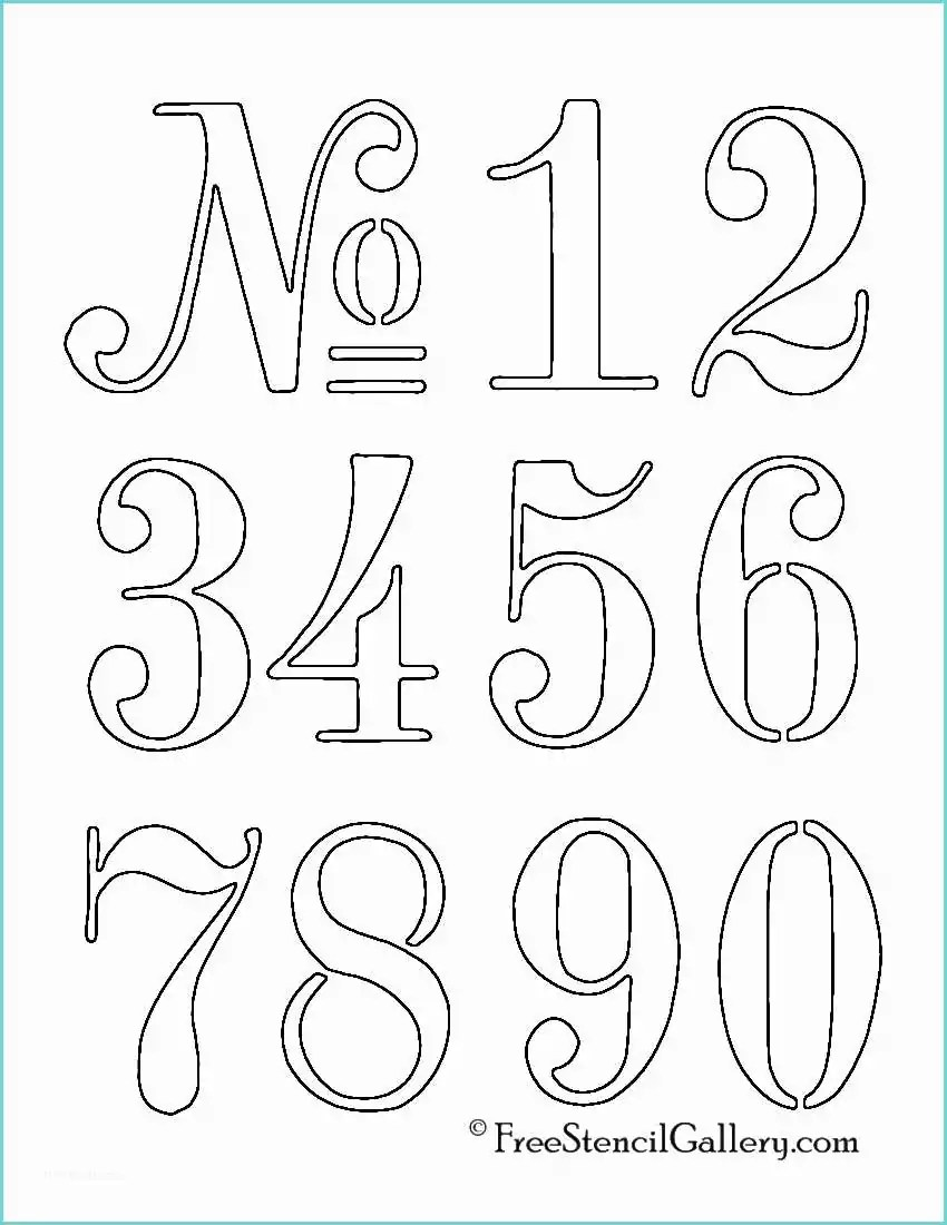 Stencil Numeri Da Stampare Printable Number 4 Outline