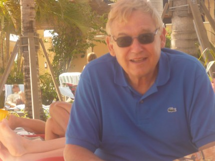 Meet my father, the other man in my family (aka Mr. David Solomon)... Although he's not the biggest sartorial enthusiast, nor understands the way I dress... I got to say he looks adorable, here in his blue Lacoste polo. xo!