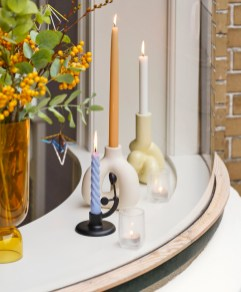 W and S Complot Candleholder ivory_W and S Soft Candleholder soft yellow