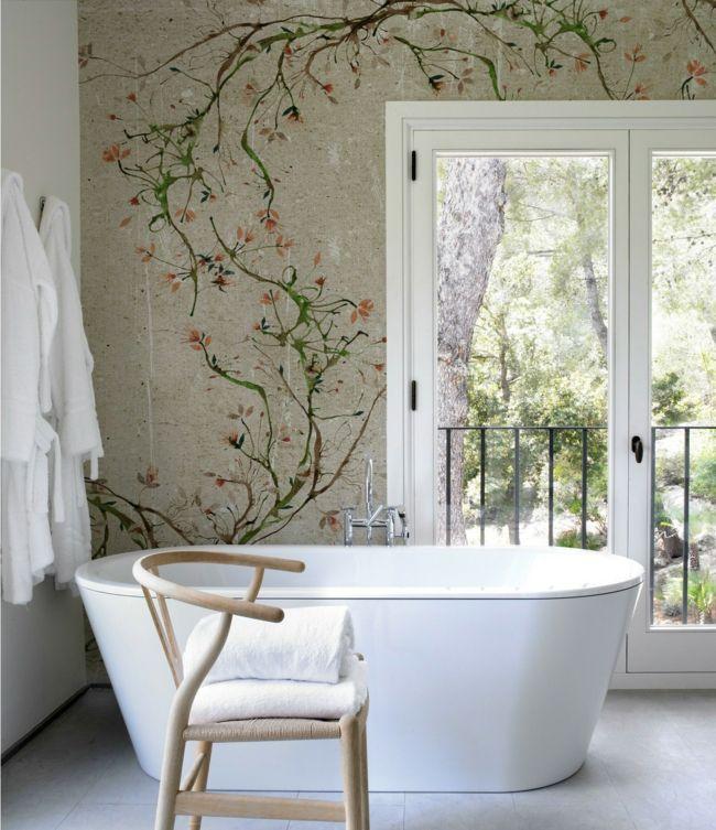 Designer Tapeten und Wanddekoration frs Badezimmer  Trendomatcom