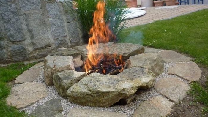Das lebendige Feuer im Garten  Trendomatcom