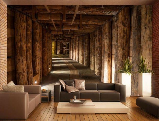 ideen fur wohnzimmer tapeten - boisholz - Moderne Tapeten Furs Wohnzimmer