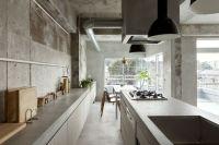 Beton steht im Trend, auch in der Kchengestaltung ...