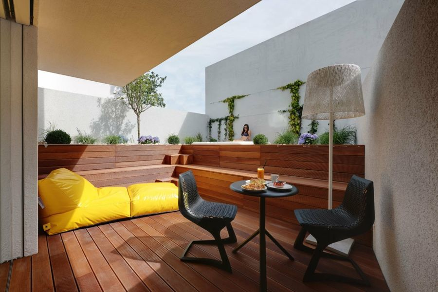 terrasse holz verlegen anleitung holz fliesen auf dem balkon,
