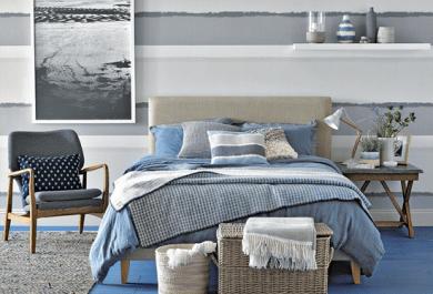 Schlafzimmer Blau Grau schlafzimmer grau ein modernes schlafzimmer interior in trendige farben
