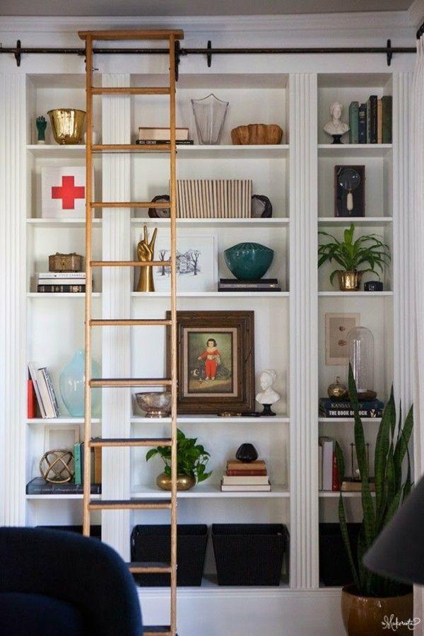 Wohnzimmer Gestaltungsideen Bucher Wei Deko Holz Regale - Boisholz Deko Wohnzimmer Regal