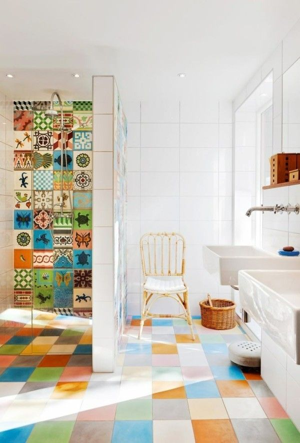 Badezimmer Fliesen  praktische Gestaltung mit starker Wirkung  Trendomatcom