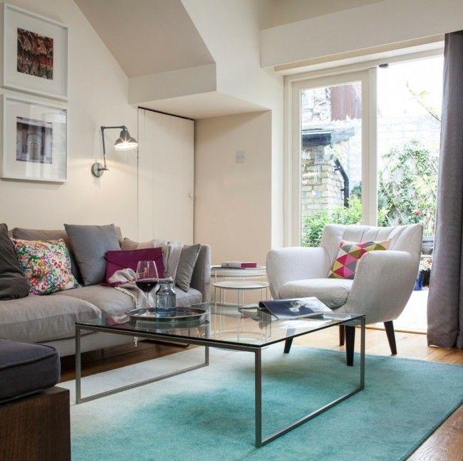 Wohnzimmer einrichten moderne Teppiche fr Wohnzimmer  Trendomatcom