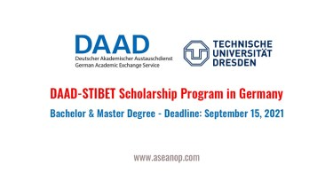 DAAD-STIBET Scholarship for International Students Germany, 2021