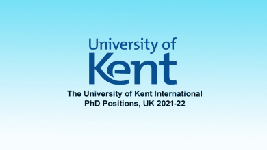 The University of Kent International PhD Positions, UK 2021-22