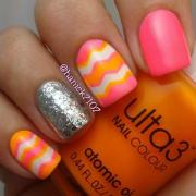pink & orange chevron