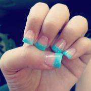 sparkly blue tips