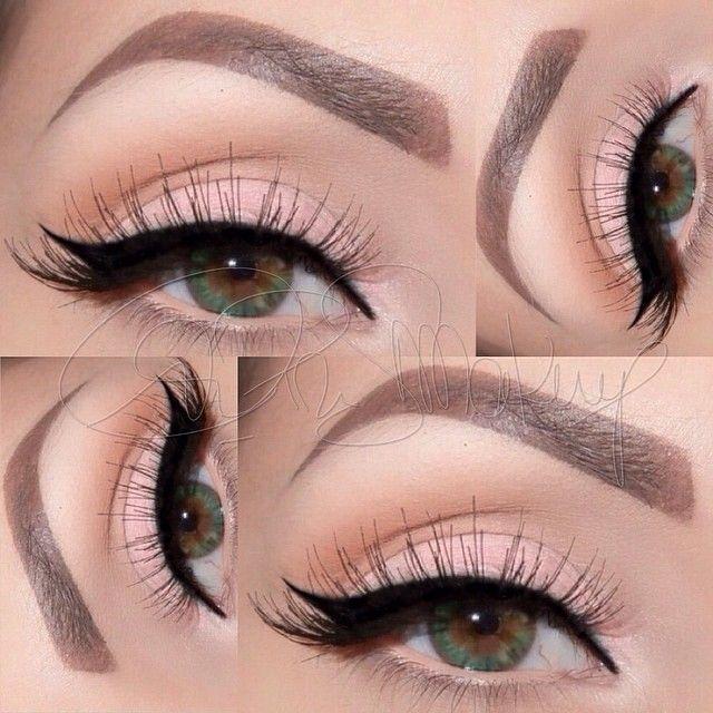 Winged Pink Eyeliner