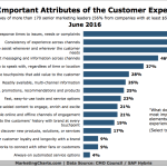 Chart - Most Important Attributes Of Customer Experience