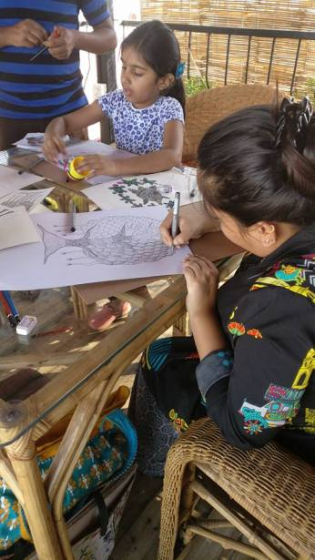 Workshop enjoyed by children and adults equally