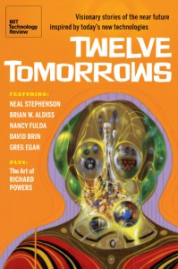 Image of the cover of Twelve Tomorrows book from MIT Technology Review.