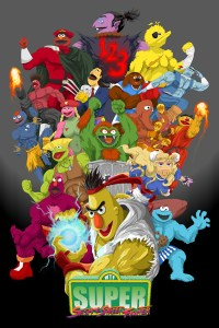 Super Sesame Street Fighter Poster by Matt Crane.