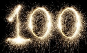 Image of the number 100.