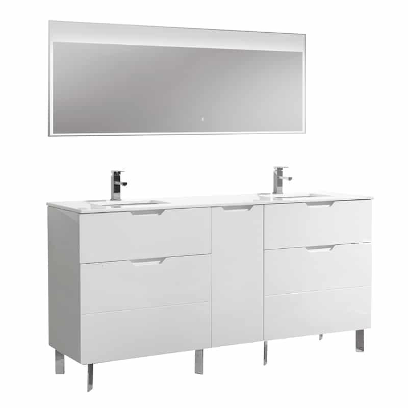 aquamoon livenza 72 white double sink modern bathroom vanity with mirror