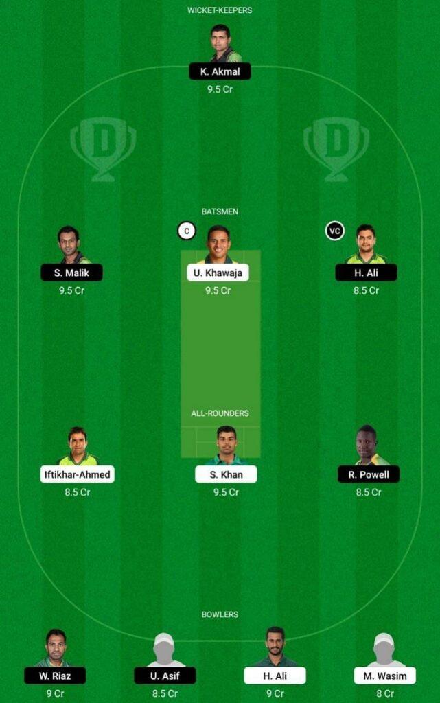 Islamabad United vs Peshawar Zalmi DREAM11 Playing11