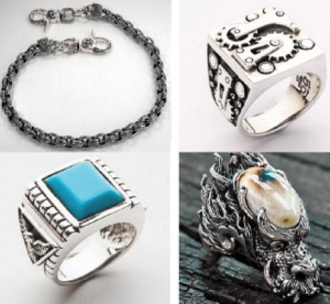 different kinds of biker jewelry online