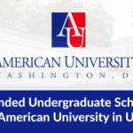 Scholarship At American University Washington DC USA