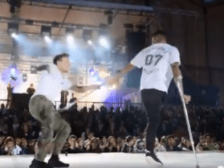 Dance Video By A Young Man On Crutches With One Leg Amputated