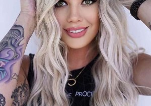 Long Blonde Hair Styles with Dark Roots in Year 2020
