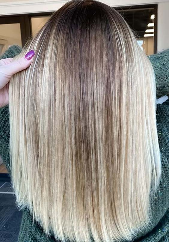 Sleek Straight Haircuts with Balayage Highlights to Show Off in 2020