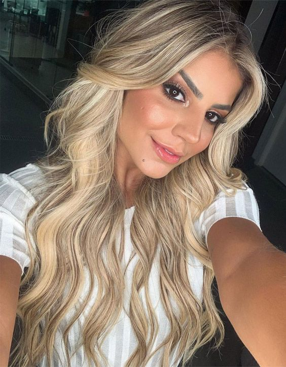 Lovely Long Vibes Blonde Hair Look In 2020