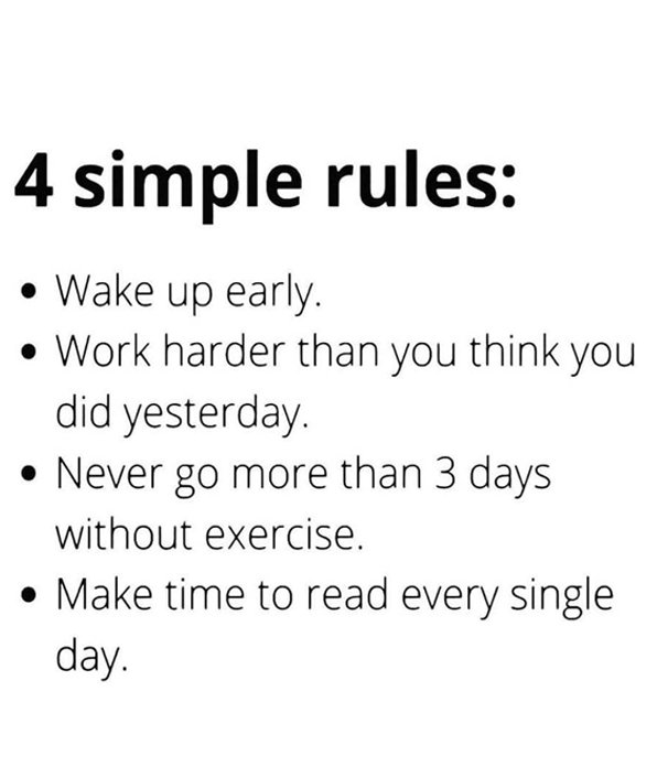 4 Simple Rules of Life - Motivational Quotes