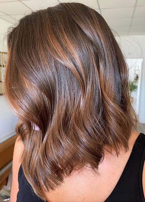 Gorgeous Brown Lob Haircut Styles for Women in 2020