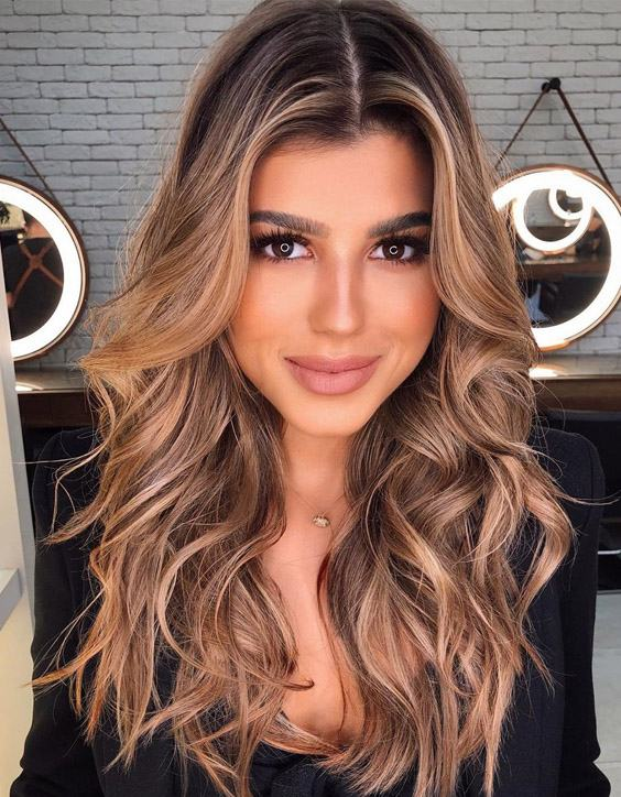 Hottest Brunette Balayage Hair Color Highlights for 2020