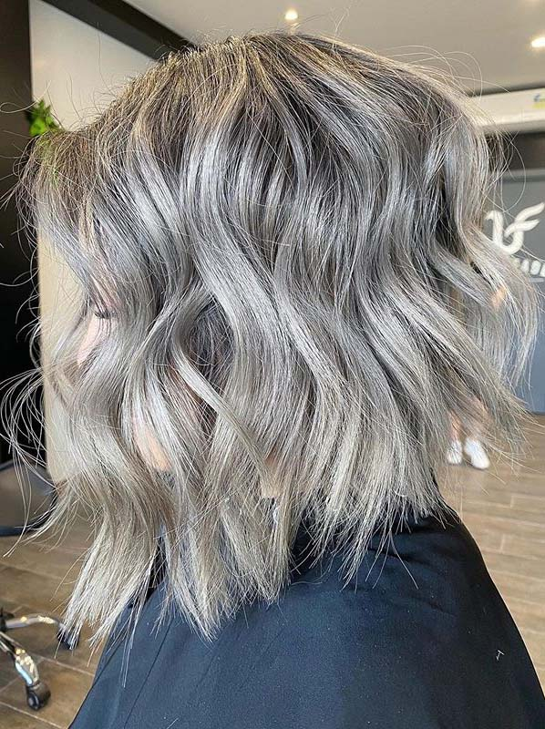 Ash Gray Textured Bob Hair Looks You Must Wear Nowadays