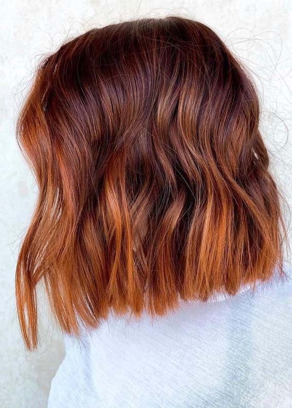 Ginger textured bob Hair Cuts to Show Off
