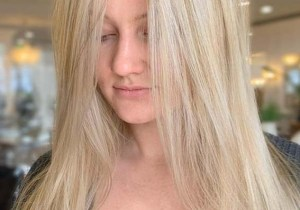 Long Sleek Blonde Hairstyles for Girls