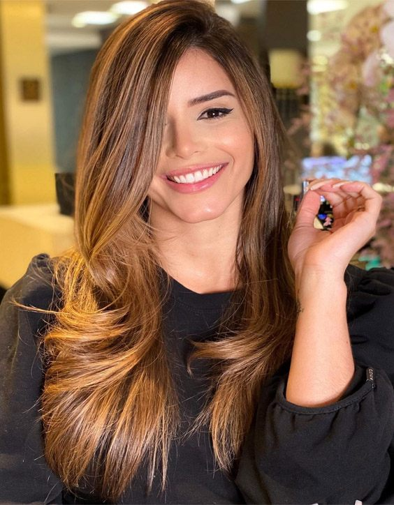 Most Beautiful Style of Balayage Highlights for Long Hair