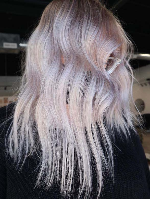 Icy blonde with lavender Shades You Must Try