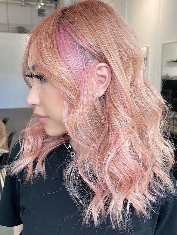 Gorgeous Rose Gold Hair Color Shades