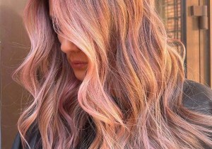 Sophisticated peach Hair Color Trends