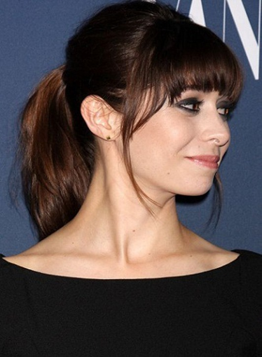 Cool Girls Fringe with Ponytail Hairstyles