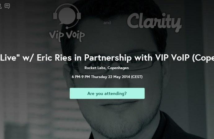 VIP VoIP bringer rockstars Eric Ries og Dan Martell i øjenhøjde