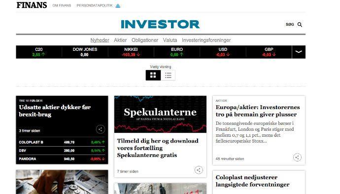 Nyt digitalt medie vil hjælpe investeringsglade danskere