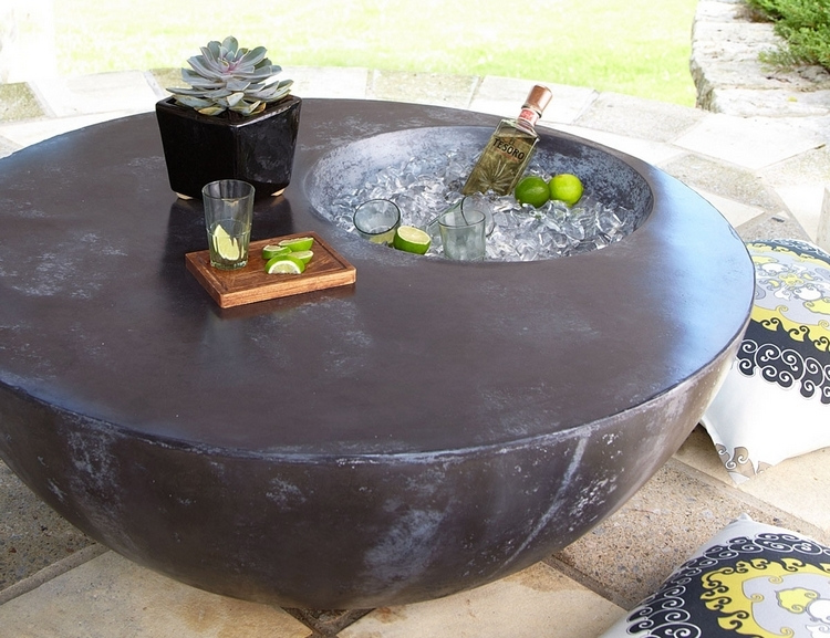 ice box this outdoor beverage table