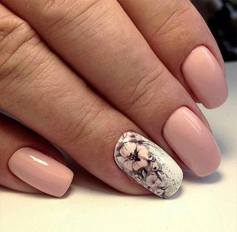 10 Gorgeous Floral Wedding Nails