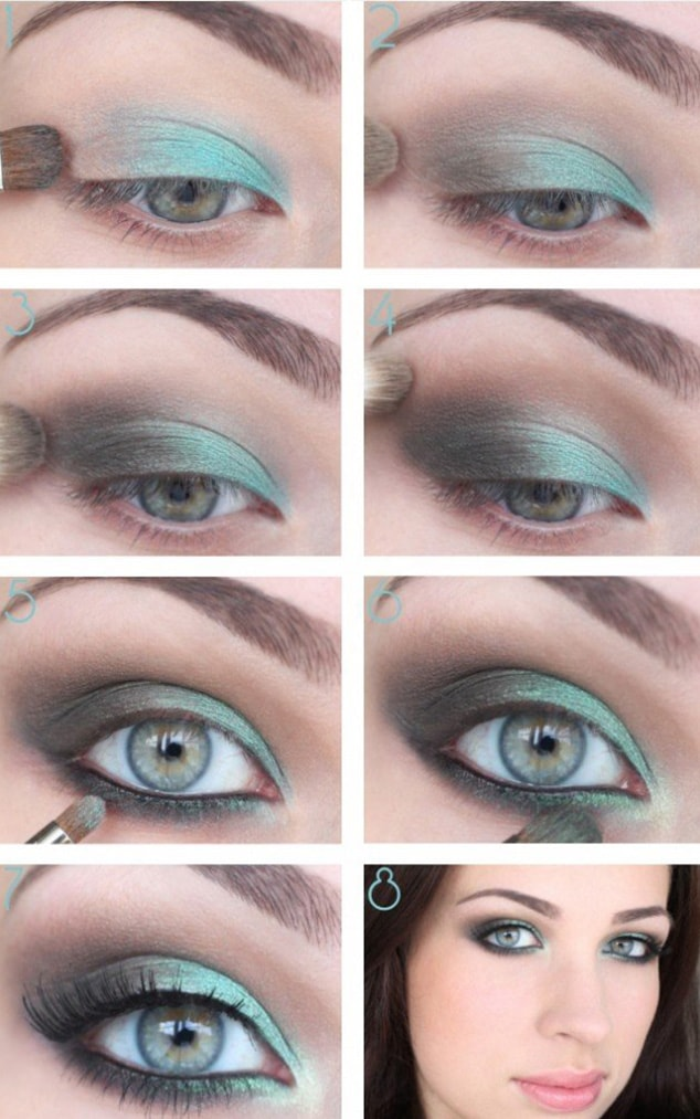 Fresh Light green Tutorial for Blue Eyes