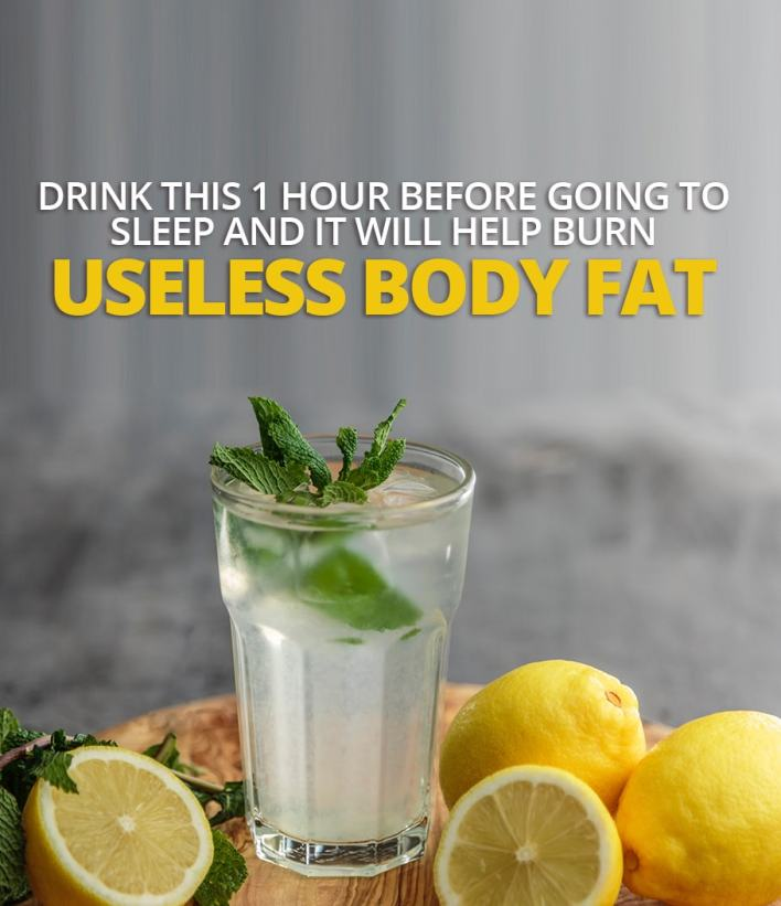 Drink This 1 Hour Before Going To Sleep and it Will Help Burn Useless Body Fat